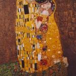 Pocałunek_kopia obrazu Gustava Klimta_61x50