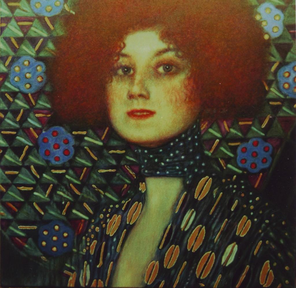 Portret Emilie Floge_kopia obrazu Gustava Klimta_50x50cm