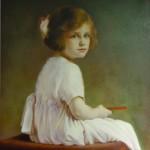 Portret dziewczyny w różowej sukni_kopia obrazu Geralda Festus-Kelly_75x58cm