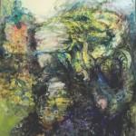 1. Rzeka, 2014, olej na płótnie, 60x55